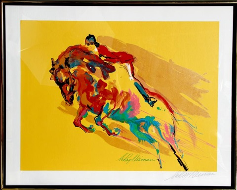 show jumper by leroy neiman