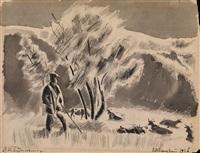shepherd (from the serdobsk series) by vladimir alekseevich milashevsky
