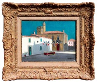 14 juillet aux saintes maries de la mer by yves brayer