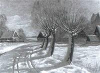 by i soligt vinterlandskap by finn wennerwald
