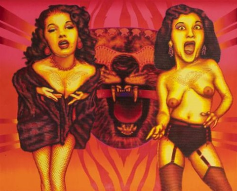 two screaming ladies by ed paschke