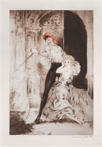don juan / casanova (2 works) by louis icart