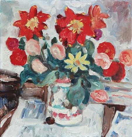 sill life with flowers by sigurd swane