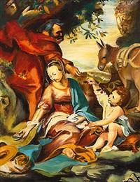 die hl. familie mit dem kirschzweig (after barocci) by conrad david arnold