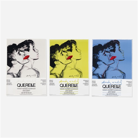 querelle posters set of 3 by andy warhol