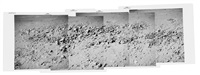telephoto panorama of boulders on the west wall of hadley rille lunar canyon by david scott