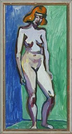 standing naked woman by eyvind olesen