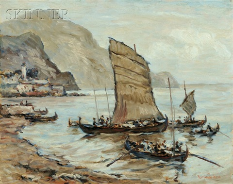 cargo boats funghal madeira by reynolds beal