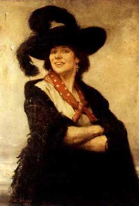 self-portrait as a coster girl by rosalie emslie