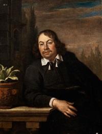 portrait des medizinprofessors florentius schuyl, 1619 - 1669 leyden by frans van mieris