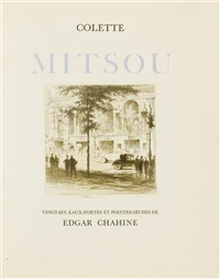 mitsou (bk by colette w/27 works, 4to) by edgar chahine