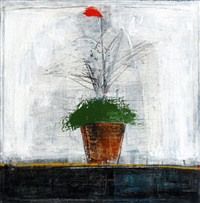 a red flower in the plant by salah alkara