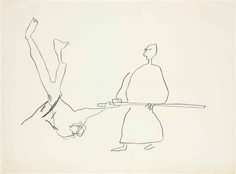 untitled karate ii by jean michel basquiat