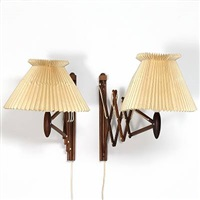 sax wall lamps (long model 332) (set of 2) by le klint