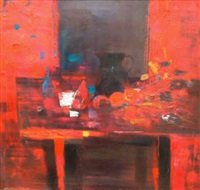 red still life by robert henderson blyth