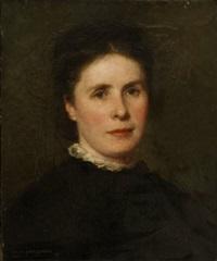 portrait of a lady, head and shoulders by jesus rodriguez corredoyra de castro