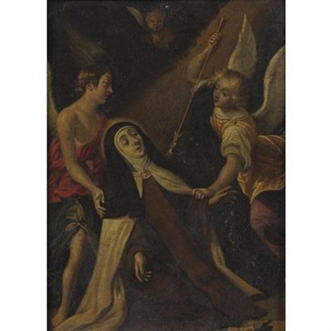 the ecstasy of st teresa by hispano flemish school 17