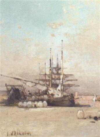unloading the cargo by jean d alheim