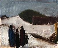 landscape fith four figures by johannes hofmeister