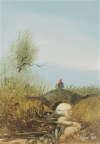 figure on a bridge by adam kos