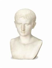 bust of the young augustus by pietro barzanti