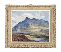 view of the northern cuillin, skye by william mervyn glass