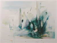 soft blue landscape (lullin 114) by richard hamilton