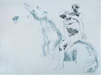 man and horse iv by elisabeth frink