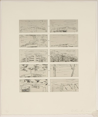 black course of empire by ed ruscha