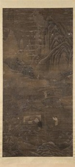 雪江沽酒图 by jiang guandao