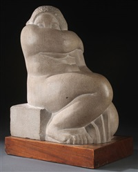 seated nude no. 1 by humbert albrizio