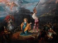 martirio de santa bárbara by simon de vos