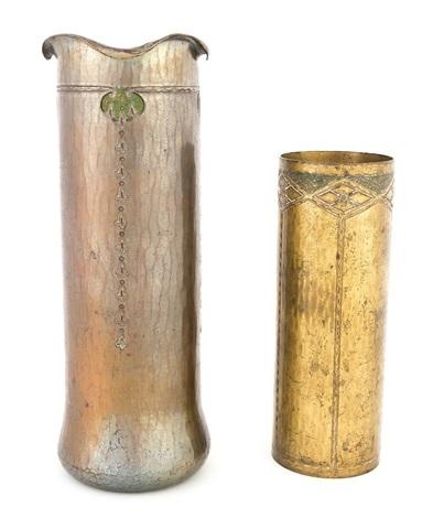 Two Roycroft Hammered Copper Vases By Roycroft Shops On Artnet