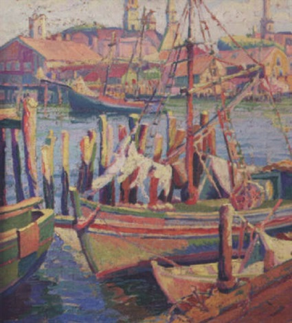 gloucester harbor by clara l deike