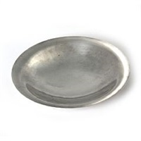 round, hammered sterling silver dish by georg jensen