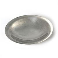 round, hammered sterling silver dish by georg jensen
