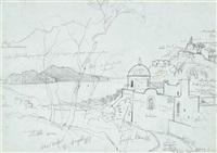 near massa, capri in the distance by edward lear