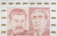 portraits of stalin and brezhnev by eduard gorokhovsky