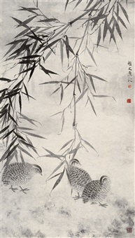 birds and bamboo by xu xiao bin