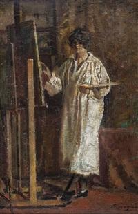 la pittrice a cavalletto by raffaele ragione