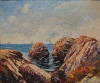 coastal view/possibly swampscott, massachusetts by philip little