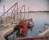 rockport docks by bernard i. green