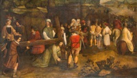 kreuztragung christi by nicolas bollery