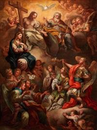 die dreifaltigkeit mit der jungfrau maria und erzengeln by corrado giaquinto