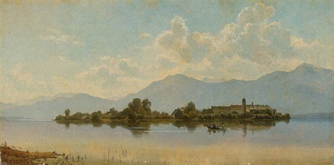 die fraueninsel im chiemsee by wilhelm boshart