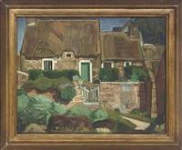 cottages beside a path by paul fredureau