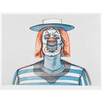clown (from recent etchings i) by wayne thiebaud