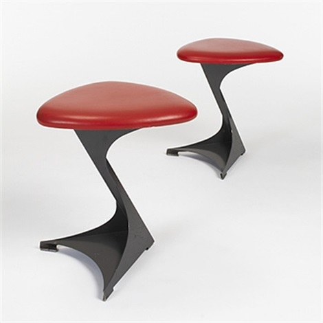 pair of stools from the tabourettli theatre by santiago calatrava