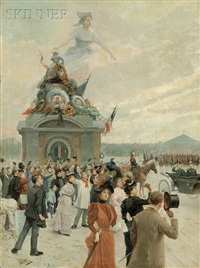 allegorical view of a bastille day parade by mariano alonso pérez