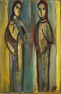 two figures by pranas domsaitis